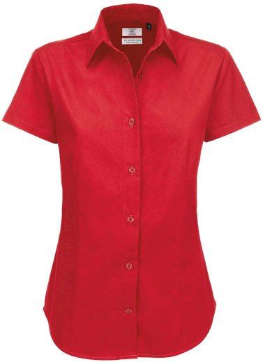 Dámská košile krátký rukáv 100% česaná bavlna kepr Easy Care Sharp