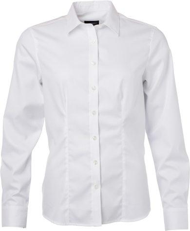 James Nicholson dámská košile dlouhý rukáv Herringbone Easy Care