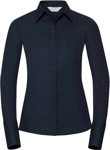 Elastická halenka dlouhý rukáv Russell bavlna s vysokým podílem Lycra®