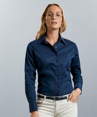 Dámská keprová košile Russell dlouhý rukáv límec Kent Classic fit