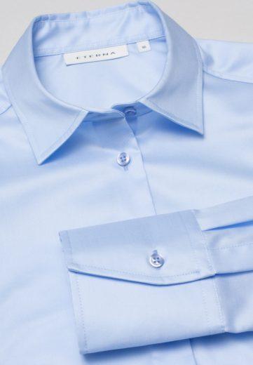ETERNA Modern Classic dámská světle modrá neprosvítající halenka dlouhý rukáv rypsový kepr 100% bavlna Non Iron