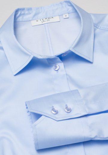 ETERNA Slim Fit dámská světle modrá neprosvítající halenka dlouhý rukáv rypsový kepr 100% bavlna Non Iron