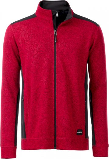 Pánská zátěžová bunda z pleteného fleece & softshellové vklady pro delší životnost