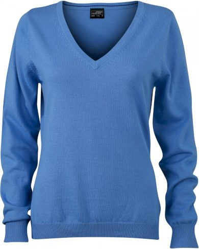 Dámský svetr s výstřihem do V James &  Nicholson