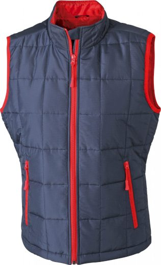 Lehká pánská polstrovaná vesta Thinsulate™ 3M James & Nicholson