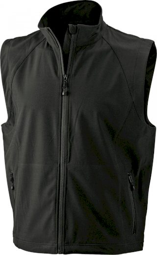 Pánská 3 vrstvá softshellová vesta James & Nicholson