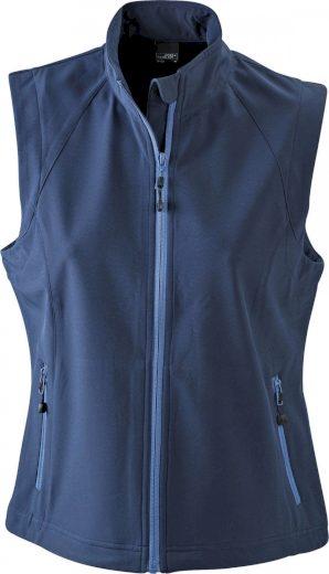 Dámská 3 vrstvá softshellová vesta James & Nicholson