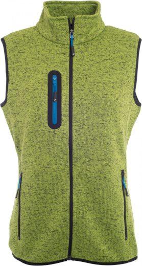 Dámská vesta z pleteného fleecu se stojáčkem James & Nicholson