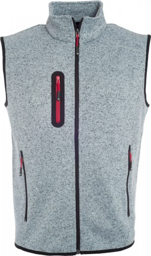 Pánská vesta z pleteného fleecu se stojáčkem James & Nicholson