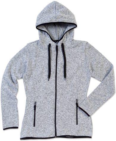 Dámská pletená fleecová mikina melír Stedman