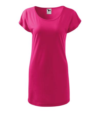 Dámské tričko-šaty s krátkým rukávem Love Malfini