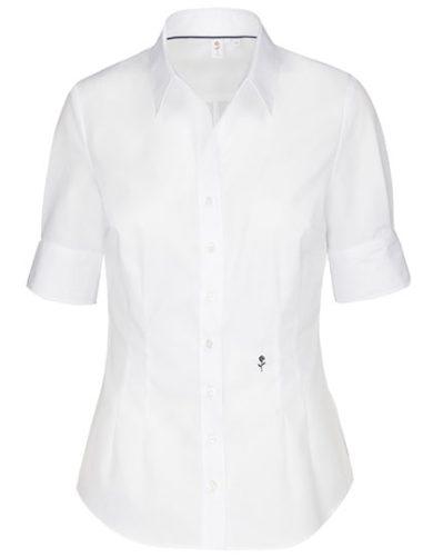 Dámská nežehlivá košile Slim fit s krátkým rukávem Seidensticker