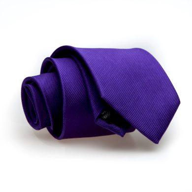 Fialová kravata z hedvábí jednobarevná