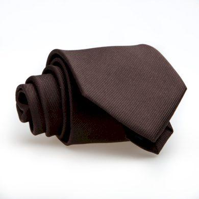 Hnědá kravata jednobarevná