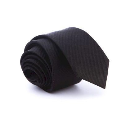 Luxusní černá kravata slim