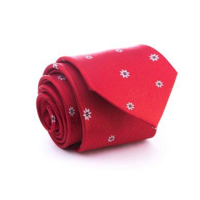 Luxusní červená hedvábná kravata