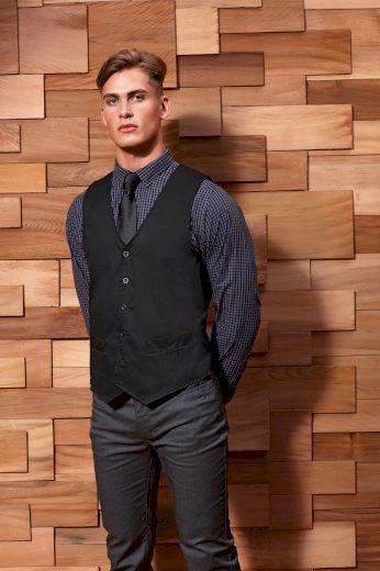 Pánská obleková vesta pro číšníky Regular fit černá barva Premier