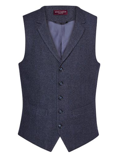 Pánská společenská vesta k obleku Herringbone Brook Taverner