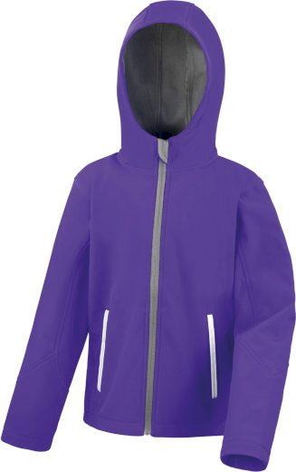 Dětská softshellová bunda s kapucí Result