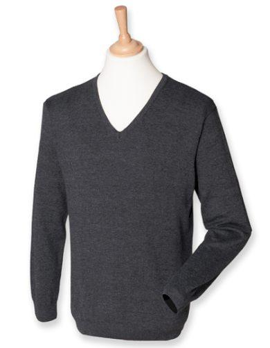Pánský Regular fit pletený pulovr do V Henbury