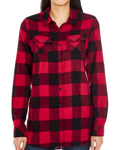 Dámská flanelová košile károvaná Slim fit Burnside