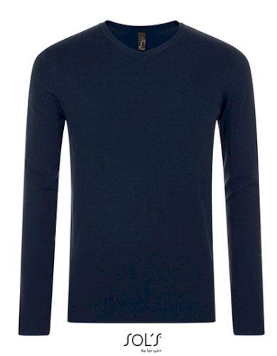 Pánský pletený Slim fit pulovr do V Sol's