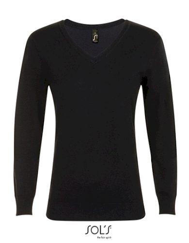 Dámský pletený Slim fit pulovr do V Sol's