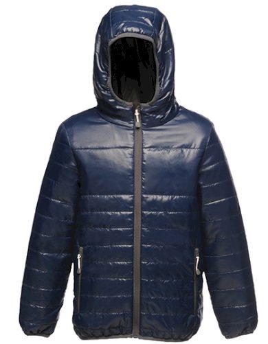 Dětská prošívaná přechodová bunda s kapucí nepromokavá Regatta