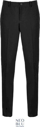 Pánské oblekové kalhoty s elastickým pasem Neo Blu