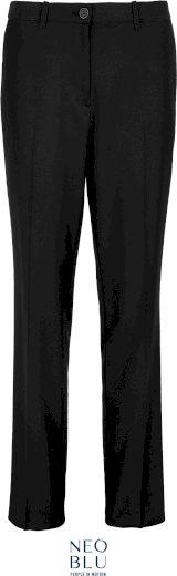 Dámské kostýmkové kalhoty s elastickým pasem Neo Blu