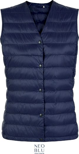 Pánská prošívaná vesta s výstřihem do V Neo Blu