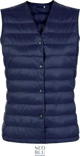 Dámská prošívaná vesta s výstřihem do V Neo Blu