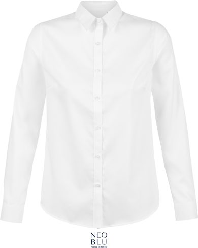 Dámská Mikro keprová košile s dlouhým rukávem Neo Blu Non Iron
