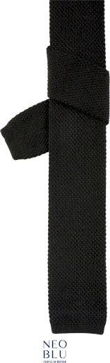 Pletená kravata v casual stylu Theo Neo Blu černá