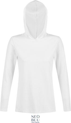 Dámská tričko-mikina přes hlavu s kapucí Louis Neo Blu