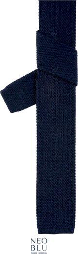Pletená kravata v casual stylu Theo Neo Blu Navy