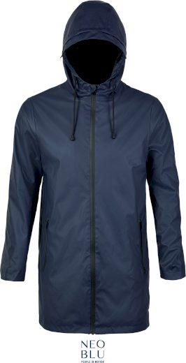 Pánská nepromokavá bunda s kapucí Neo blu