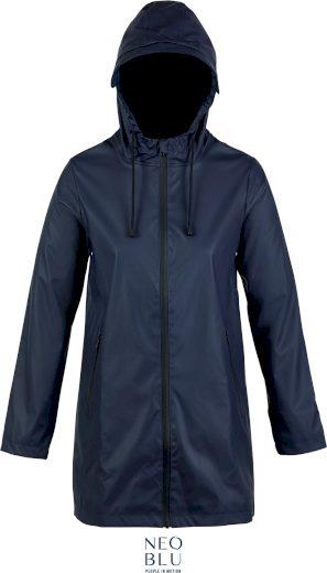 Dámská nepromokavá bunda s kapucí Neo blu