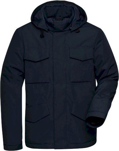 Pánská odolná business bunda s kapucí James & Nicholson