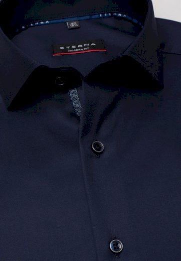 ETERNA Modern Fit pánská košile půlnoční modrá neprosvítající Non iron