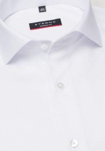 ETERNA Modern Fit unikátní omyvatelná čistě bílá košile Rypsový kepr Non Iron Lotus