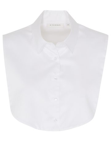Dámský bílý halenkový límec bez rukávů ETERNA 95% bavlna 5% elastan easy iron