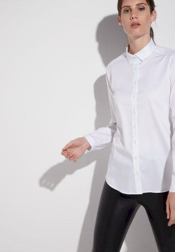 Dámská bílá moderní košile s dlouhým rukávem ETERNA 95% bavlna 5% elastan easy iron