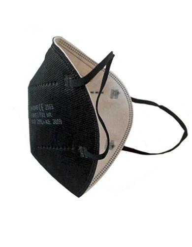 Respirátor FFP2 účinnost 95% 5 vrstev černý | Balení po 1 ks