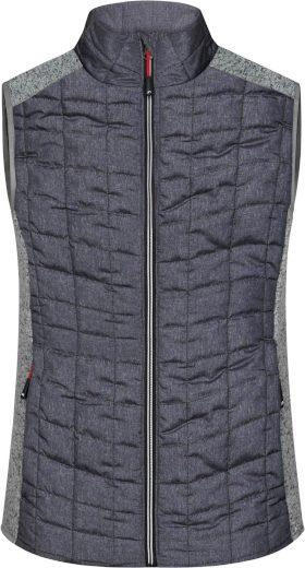 Dámská pletená hybridní vesta James & Nicholson