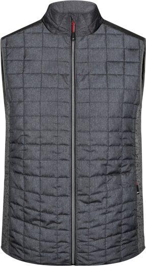 Pánská pletená hybridní vesta James & Nicholson