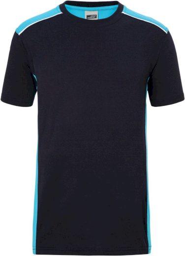 Pánské pracovní tričko s kontrastem