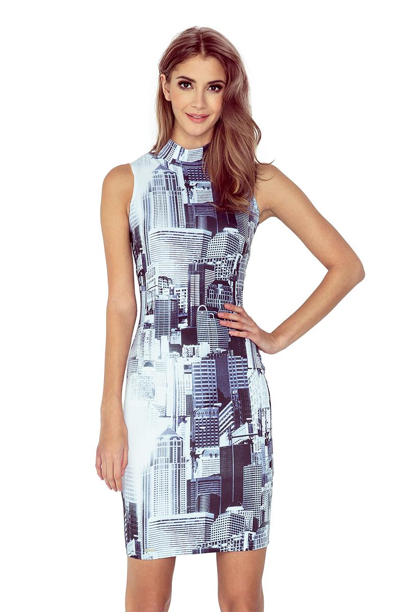 Šaty bez rukávů se vzorem města model 4977765