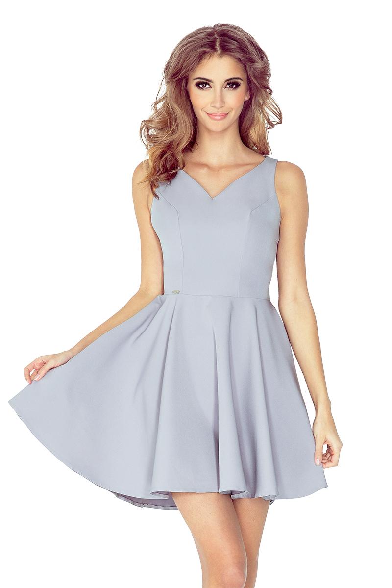 Šedé šaty s kolovou sukní model 4977936