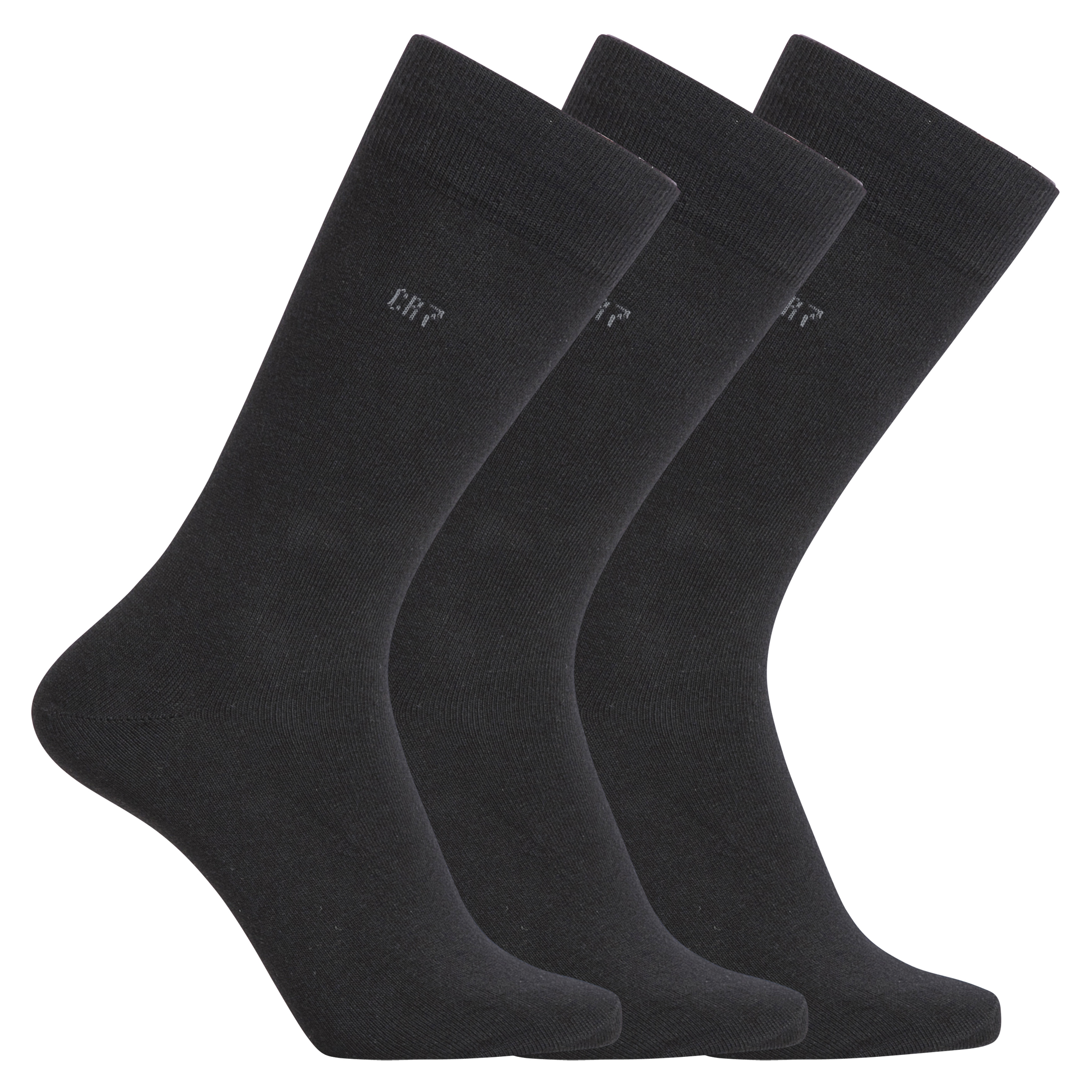 Ponožky vysoké 3 páry 8170-80-900 černá - CR7